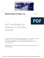 Are You Ready for Pantone 2016 Color Trends_ _ Kitchen Studio of Naples, Inc