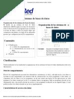 Organización de Los Sistemas de Bases de Datos