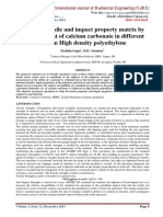 Study of Tensile and impact property matrix by reinforcement of calcium carbonate in different ratio in High density polyethylene