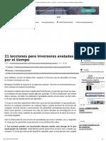 21 Lecciones Para Invers..
