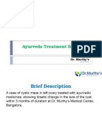 Ayurvedic Treatment for Cystic Mass