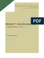 Model Proiect POO