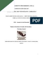 HERENCIA  DE  CARRANZA, LA  CONSTITUCIÓN  DE  1917  EN  MÉXICO