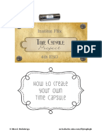 How to Make a Time Capsule Students