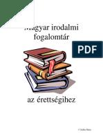 Magyar irodalmi fogalomtár az érettségihez