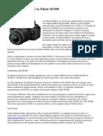 Prova di Scattti con la Nikon D5500
