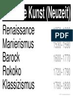 w LernPlakate KUN Bildende Kunst Neuzeit 1