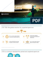 Lte Tdd the Global Solution for Unpaired Spectrum
