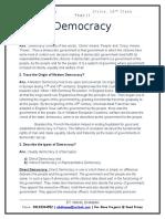 Democracy - 10th Class Civics Notes
