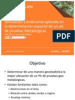 Simulación Condicional aplicada en la determinación espacial de un pit