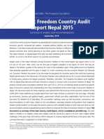 Economic Freedom Country Audit of Nepal_Summary report