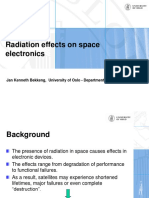 Radiation Effects on Space Electronics