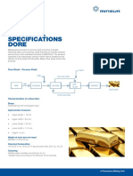 Especificaciones Técnicas Dore