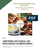 Sistema Nacional de Inocuidad Alimentaria