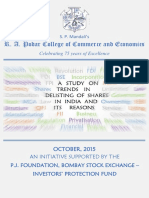Astudy on Trends in Delisting