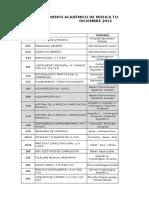 Exámenes Diciembre 2015