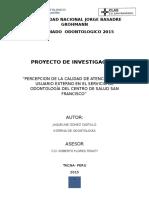 Introduccion de Proyecto calidad de atención centro  de salud san francisco
