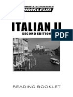 Pimsleur Italian 2 Phrasebook