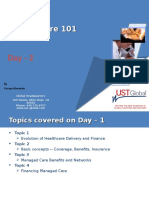 Healthcare 101 an Introduction Day II_UST