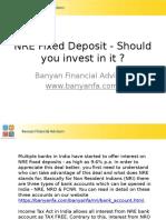 Tax Free NRI (NRE) Fixed Deposits