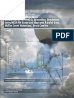 Comparison of TOPMODEL Streamflow Simulations Using NEXRAD-Based and Measured Rainfall Data (McTier Creek Watershed - South Carolina)
