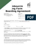 Boarding Agreement