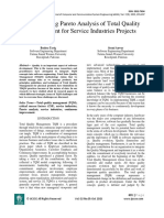 Implementing Pareto Analysis of Total Quality Management for Service Industries Projects