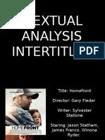 Homefront Textual Analysis INTERTITLES