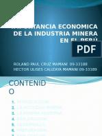Importancia Economica de La Industria Minera