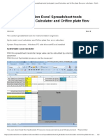 Free Instrumentation Excel Spreadsheet tools Hydrostatic Level Calculator and Orifice plate flow error calculator - Field Instrumentation - Industrial Automation, PLC Programming, scada & Pid Control System.pdf