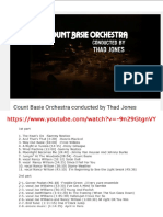 Count Basie Orchestra Conduced by Thad Jones