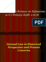 Lec 11 Afghanistan as Strategic Depth and Durand Line
