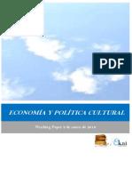 ECONOMÍA Y POLÍTICA CULTURAL