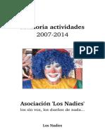 Memoria 2007-2014 - Los Nadies