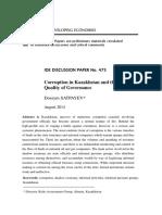 Corruption in Kazakhstan