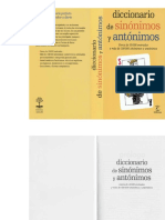 Diccionario de Sinónimos y Antónimos - Editorial Espasa