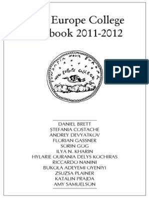 New Europe College Yearbook_2011-2012   Elections   Politics