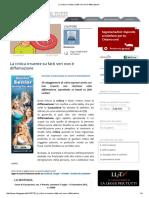 DIFFAMAZIONE 2015 SENTENZA CASSAZIONE  n.50099  DIRITTO DI CRITICA ANCHE SE ASPRA PUO  SCRIMINARE LA DIFFAMAZIONE