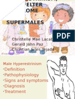 Hyperestrinism, klinefelter and super males (2).pptx