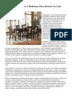 Muebles De Diseño Y Modernos Para Decorar Tu Casa