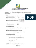Formulario - 3 de 3 - Equacoes Do Plano