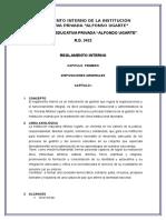 Analisis Del Reglamento Interno de Una Institución Educativa