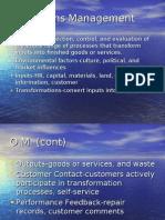 Operations Management Final