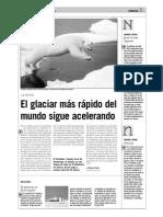 El glaciar más rápido del mundo sigue acelerando