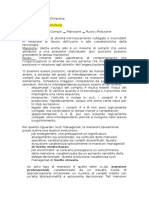 Appunti Gestione d'Impresa