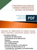 Procesos Industriales de Formas Farmacéuticas Sólidas[No Esteriles]