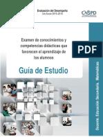 Guía Examen de Conocimientos y Competencias Didácticas