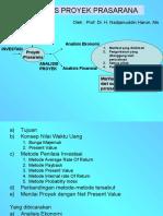 Analisis Proyek Prasarana EVAPRO