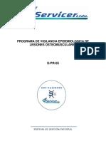 s Pr 05 Programa de Vigilanci Epidemiologica Lesiones Osteomusculares