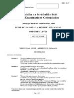 2009 Exam Paper